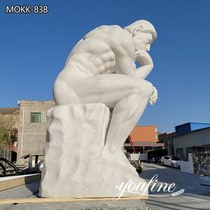 Handmade White Marble The Thinker Statue for Sale MOKK-836