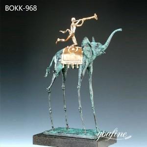 Modern Bronze Triumphant Elephant Dali Sculpture for Sale