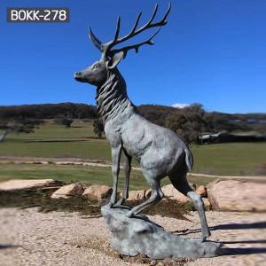 Life Size Deer Sculptures Outdoor Deer Sculptures Bronze Deer Statue for Garden BOKK-268