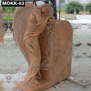 Natural Marble Angel Headstones Prices MOKK-63