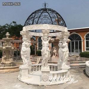 Garden Decoration Figure Sculpture Marble Gazebo for Sale MOKK-806