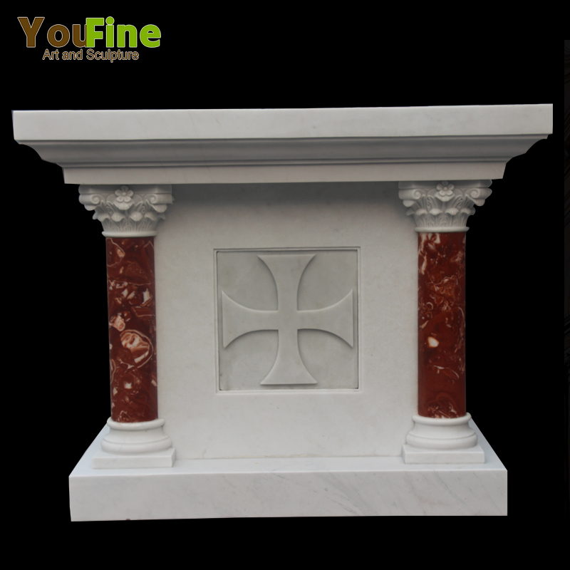 Religious Hand caved Marble Church Altar Table for Sale Featured Image