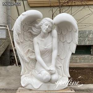 Natural Marble Life-size Angel Statue Garden for Sale MOKK-821