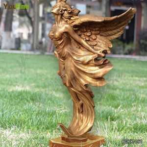 Custom Made Outdoor Bronze Angel Statue for Garden Decor Supplier BOKK-161