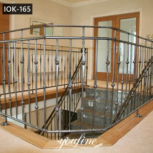 Wrought Iron Balustrades Interior Metal Stair Railing Wholesale IOK-165
