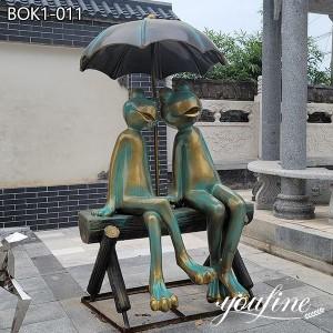 Fine Casting Bronze Frog Statue for Garden for Sale BOK1-011