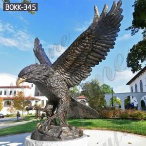 Outdoor Sculptures Metal Craft Large Bronze Eagle Sculptures BOKK-345