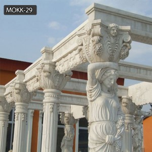 Popular natural stone cheap wedding decoration ideas for a gazebo MOKK-29