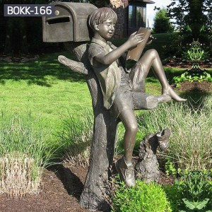 Custom Garden Statues Bronze Figure Statue Metal Yard Decorations Bronze Child Statue Mailbox BOKK-166