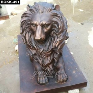 Top Quality Bronze Outdoor Lion Statue BOKK-491