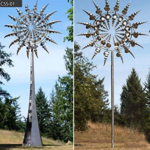 Buy wind sculpture from stainless steel kinetic energy art manufacturer CSS-01
