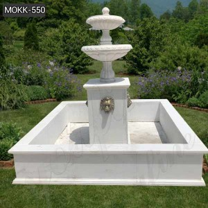 New Design Hand Carved Marble Water square Fountain for Garden Decor MOKK-550