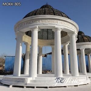 Large White Marble Gazebo with Doom for Sale MOKK-805