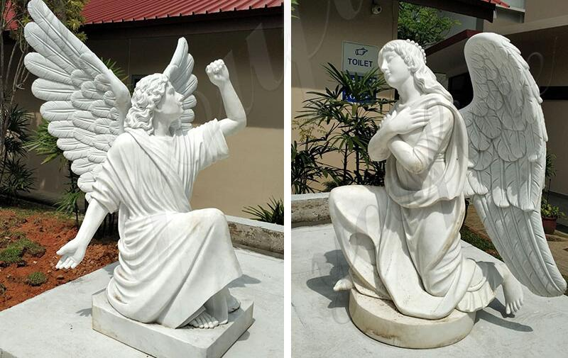 white-marble-outdoorjesus-statue-with-angels-design-for-church-from-Singapore-for-sale (1)