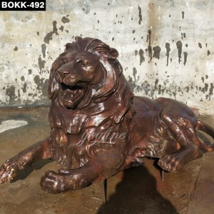 Antique Style Bronze Lion Statue BOKK-492