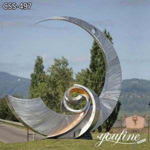 Abstract Outdoor Metal Contemporary Garden Sculpture for Sale CSS-497