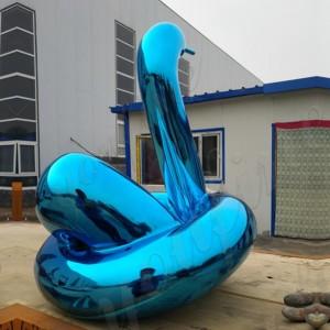 large metal yard art Jeff koons balloon swan statue CSS-29