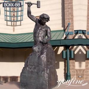 Fine Cast Bronze Self Made Man Statue for Sale BOKK-88
