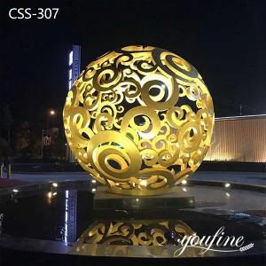 Outdoor Lighting Decor Metal Hollow Ball Sculpture for Sale CSS-307