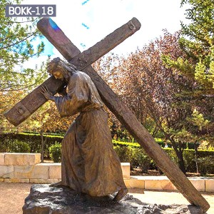 Buy Life Size Religious Church Bronze Cross Jesus Statue for Sale  BOKK-118