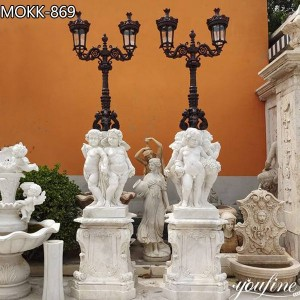 Natural Marble Antique Statue Lamp Home Decor Factory Supply MOKK-869