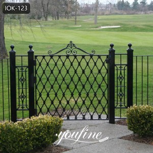 Cheap Modern House Wrought Iron Main Gates Fence Designs for Sale IOK-123