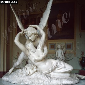 Cupid and Psyche Hand Carved Marble Sculpture MOKK-442