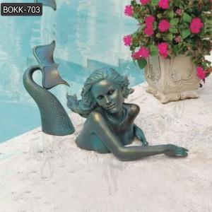 Water Pond Decorative Large Outdoor Mermaid Pool Statues Wholesale BOKK-703