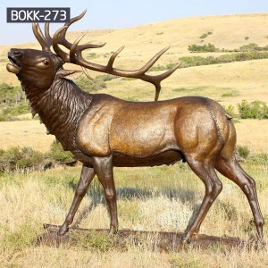 Life Size Wildlife Animal Metal Deer Garden Ornaments for Sale — BOKK-273