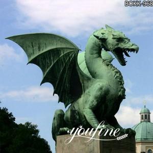 Power Outdoor Bronze Western Dragon Sculpture Online for Sale BOKK-968