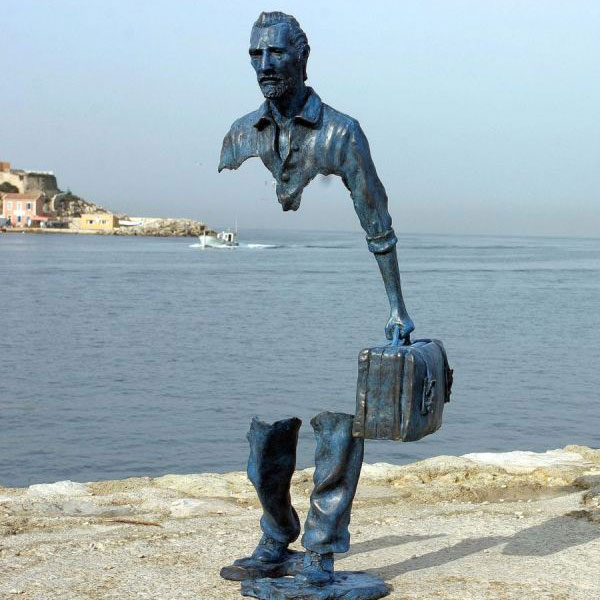 Outdoor Famous Bruno Catalano Sculpture Replica Traveler Statues for Sale BOKK-64 Featured Image