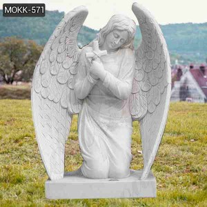 Hand Carved Marble Angel Tombstone Statue for Sale MOKK-571