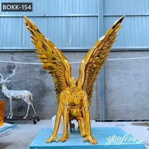 Large Modern Art Metal Man Angel Sculpture for Sale BOKK-154
