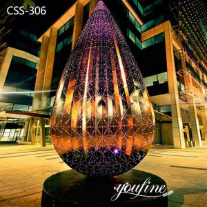 Large Light Stainless Steel Water-drop Sculpture from Factory Supply CSS-306