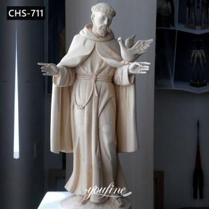 Life Size Marble St Francis Statue Bird Feeder Garden Decor for Sale CHS-711