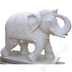 White Marble Elephant Sculpture  Large Marble Elephant Statue
