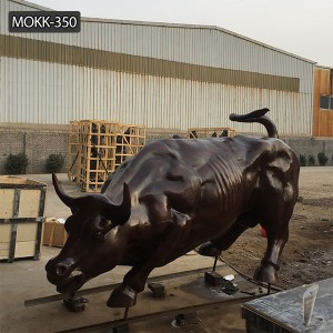 Large size outdoor sculpture Bronze wall street bull statue replica for sale BOKK-350