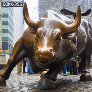 New York symbol bronze bull statue wall street bull statue replica for sale BOKK-355