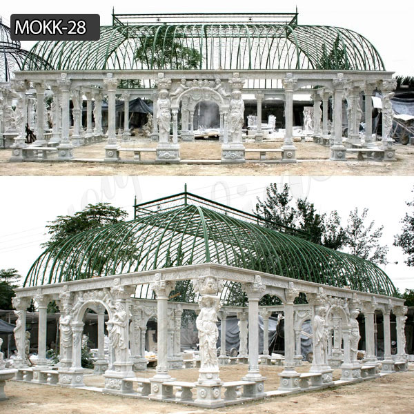 Roman Style Marble Pavilion Gazebo for Wedding Ceremony Featured Image