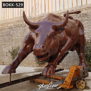 New York symbol bronze bull statue wall street bull statue replica for sale BOKK-529