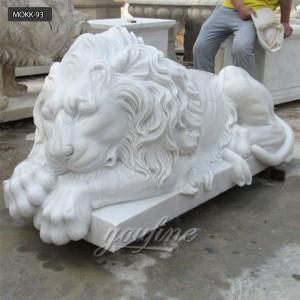 life size marble lion statue lion statue for home MOKK-94