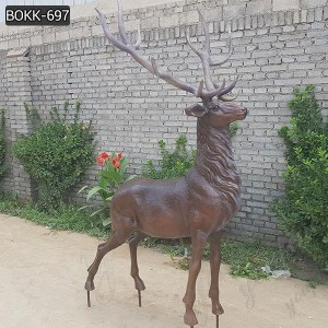 Outdoor Cast bronze deer statue for Garden Decor Factory Supply BOKK-697