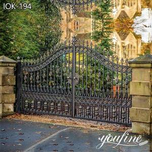 Garden Wrought Iron Gate for House Decor for Sale IOK-194