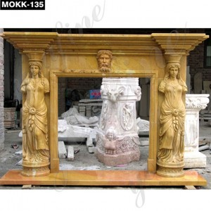 Antique Roman Natural Stone Fireplace Surround MOKK-135