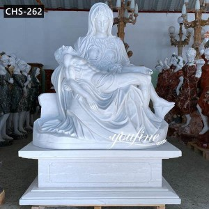 Marble religious sculpture of the Pietà by Michelangelo CHS-262