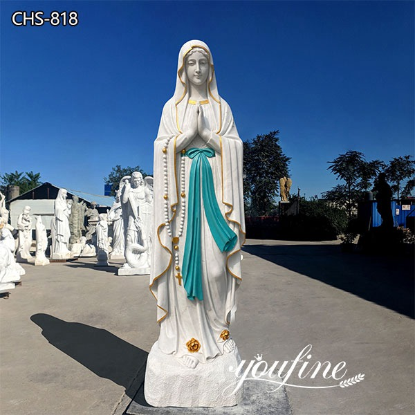 Outdoor Catholic Our Lady of Lourdes Statue Garden Decor for Sale CHS-818 Featured Image