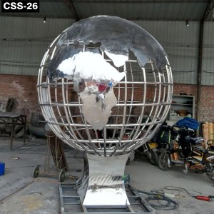Outdoor Fantastic Large Stainless Steel Globe Sculpture CSS-26