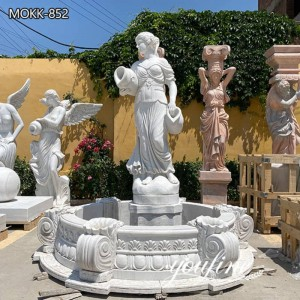 Hand Carved Marble White Garden Statue Fountain for Garden Online Sale MOKK-852